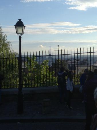 Novotel Paris 13 Porte d'Italie : Uitizcht montmartre niks te maken met hotel