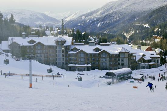 First Tracks Lodge - view from the ski slope