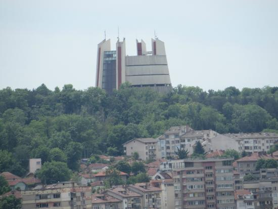 Hotel Balkan: The Epopee as seen from our room (telephoto).
