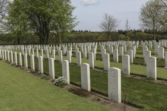 Groesbeek Canadian War Cemetery: many young men here...