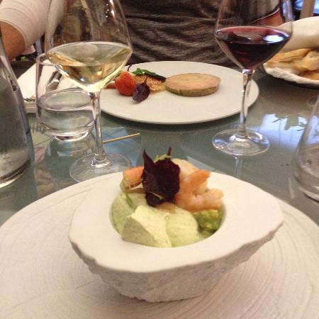 Vingelique: Entrées mousse d avocat aux St jacques et foie gras au naturel