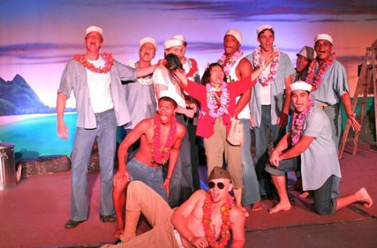 South Pacific Dinner & Theatre : South Pacific Kauai - Sailors with Bloody Mary