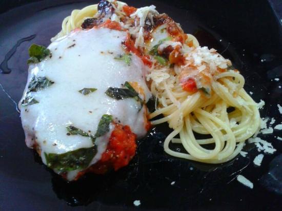 Swiss Italian Restaurant Cebu: Bistecca alla Pizzaiola with Spaghetti