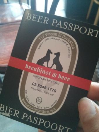 Breakfast and Beer: Everyone needs a passport just like this!