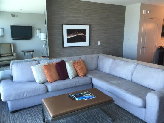 Living area in the One Bedroom Grand Plus Picture of Elara by