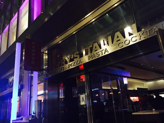 Busy food bar at night picture of harry 39 s italian new for Food bar new york city
