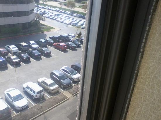 "Radisson Hotel Cleveland Airport West: Old Dead Fly Splatted on ""Window with a View"""