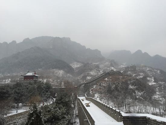 Great Wall at Huangya Pass (Huangyaguan Changcheng): Ausflug im Januar ...