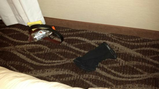 Comfort Inn: What I found beside my bed... glad to know they do a thorough clean *apply sarcasm & disgust*