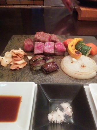 Beefsteak Kawamura, Ginza: the meal