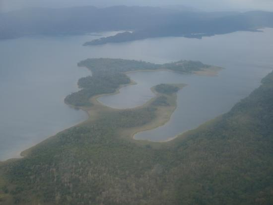 Highlands Region, Papua New Guinea: Lake from above