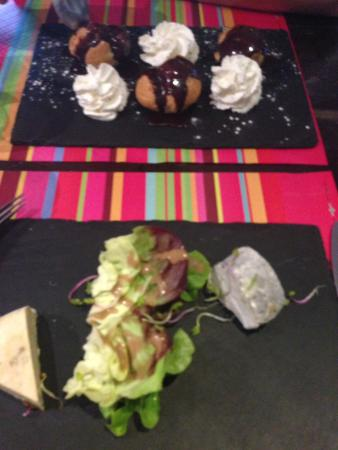 Le Saponaire Restaurant : Duo of fromage and profiteroles