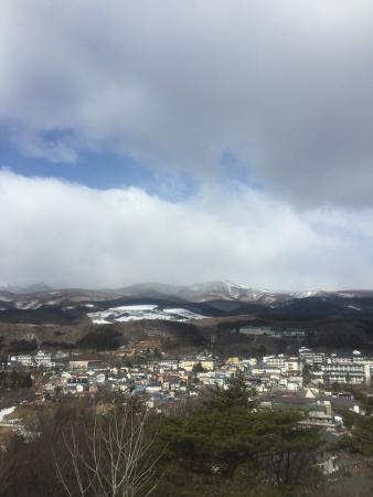 Dake Onsen: 展望台からの眺め