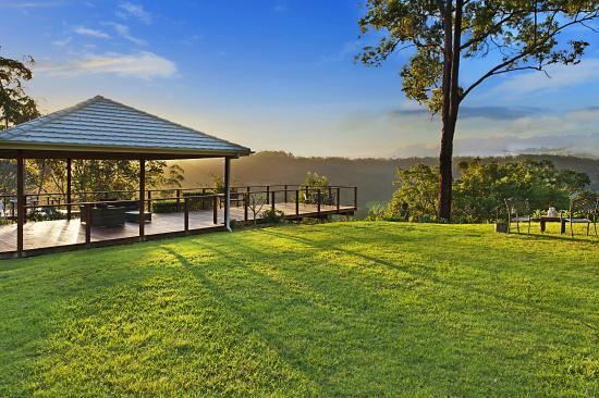 Escarpment Retreat: View from the Pergola at the Rear of the Property