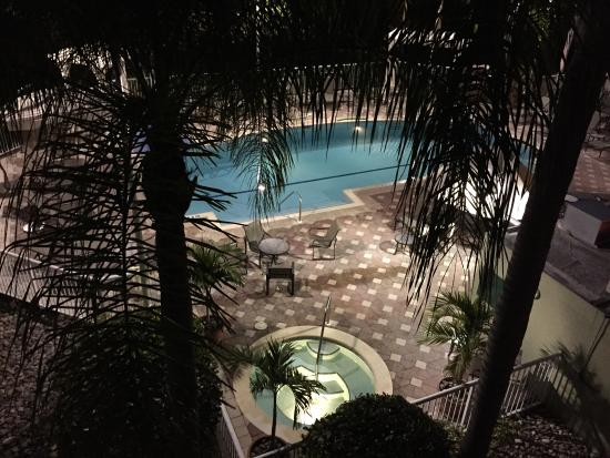 Doubletree Suites by Hilton Naples: Night view from balcony suite