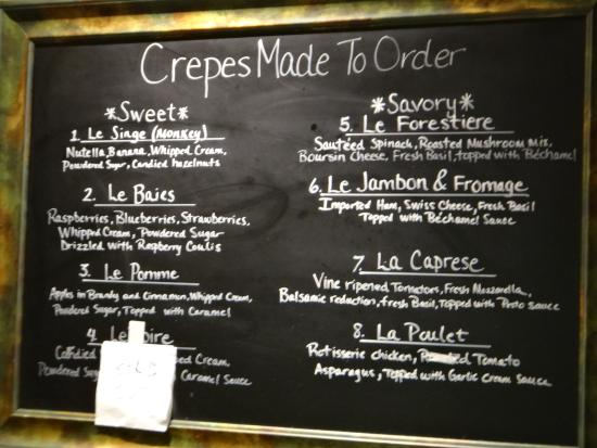 Le Village Buffet: Crepes toppings.