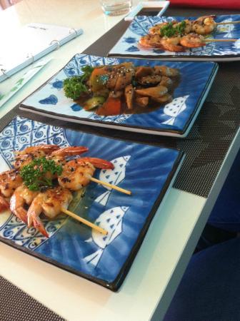 Spiedini di gamberi e pollo teriyaki foto di ristorante for Samurai torino