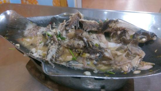 Lek Seafood: Steamed Sea Bass (after)