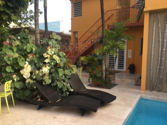Casa de Amistad: Pool/ Morning Coffee Spot