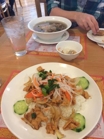Pho Saigon: We got the traditional food- and it was DELICIOUS!