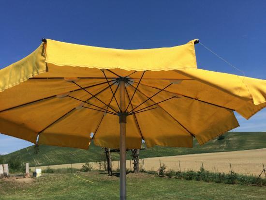 Agriturismo San Fabiano : broken umbrella