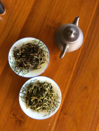 Onomea Tea Company: I believe these are the green and oolong tea samples.