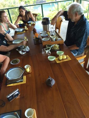 Onomea Tea Company: Rob pouring one of the teas.