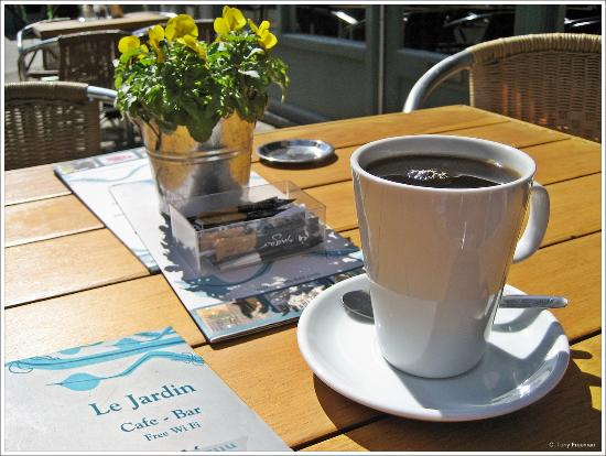 Excellent cup of coffee picture of le cafe jardin for Cafe jardin scarborough