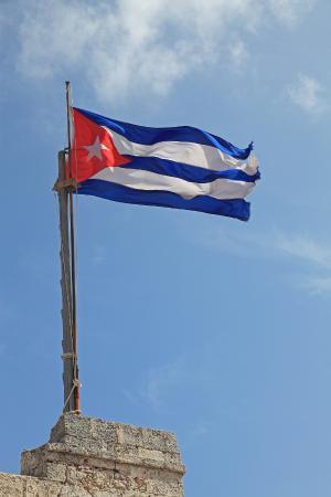 Castillo De Los Tres Reyes Del Morro : The Cuban flag