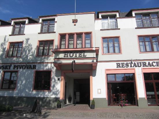 Hotel Kyjovsky Pivovar: ホテルの正面です。