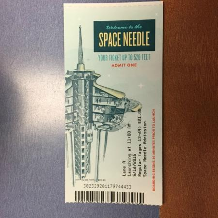 Cool Ticket Design Picture Of Space Needle Seattle