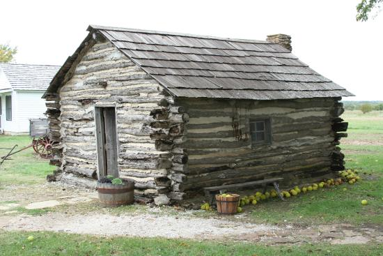 Little House On The Prairie Museum: A Side View Of The Replica Log Cagin.