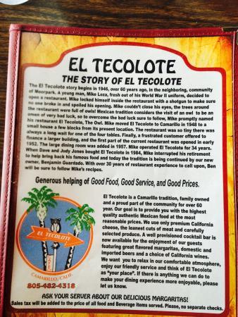 El Tecolote: Story of El Tecolate