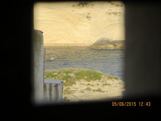 Colomba Hotel: View from tiny hatch in top room