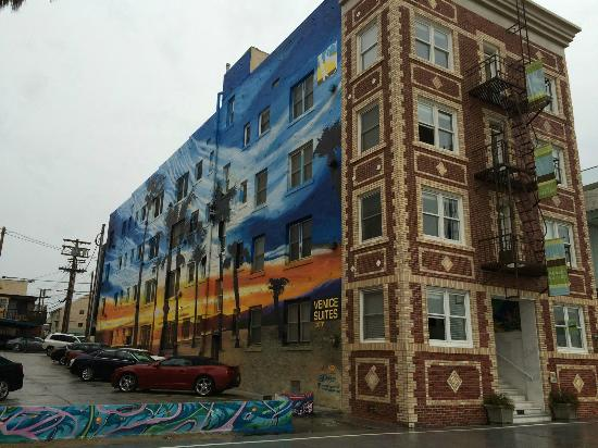 Venice Suites Mural On Side Of Hotel