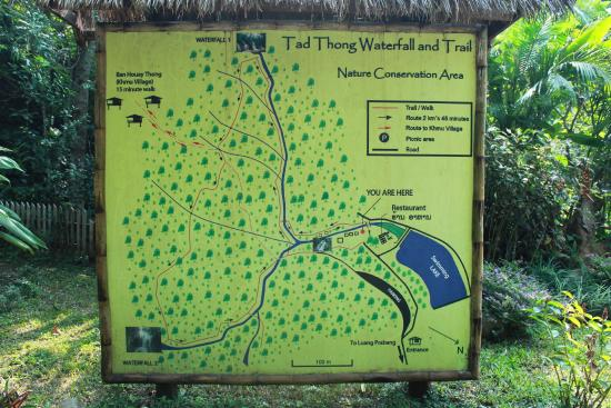 Tad Thong Waterfall: Route Map