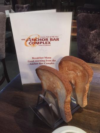 The Anchor Bar Complex: Gluten free toast