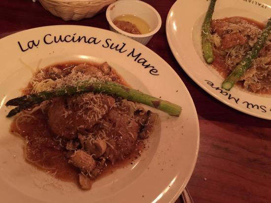 La Cucina Sul Mare: Veal Marsala split plate - we shared the entree.