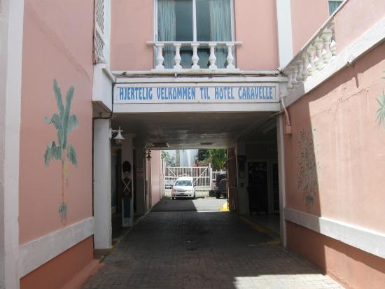 Hotel Caravelle on St. Croix : Hotel indgang