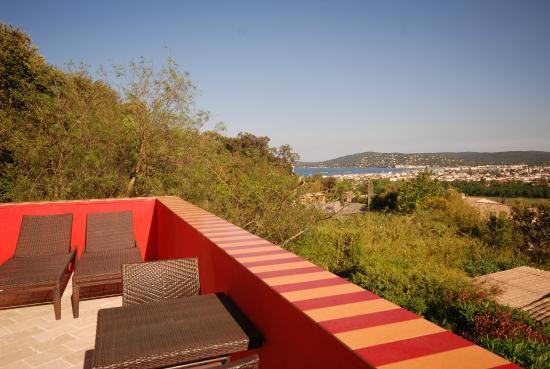 Mouramour : Vue de la terrasse - Ch Penthouse