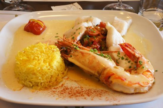 La Croisiere: Gambas cameron et poisson