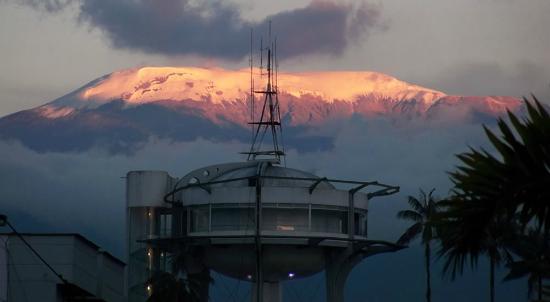Manizales, Colombia: El nevado del Ruiz, atardecer en el barrio Chipre