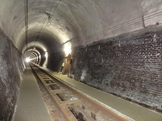 Ohikage Tunnel Walkway : トンネルの壁はレンガ。