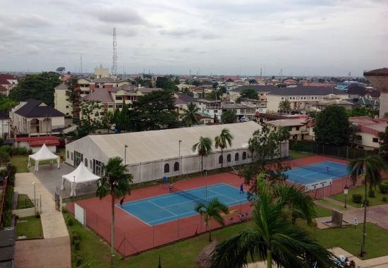 Hotel Presidential: View from room on the tennis court
