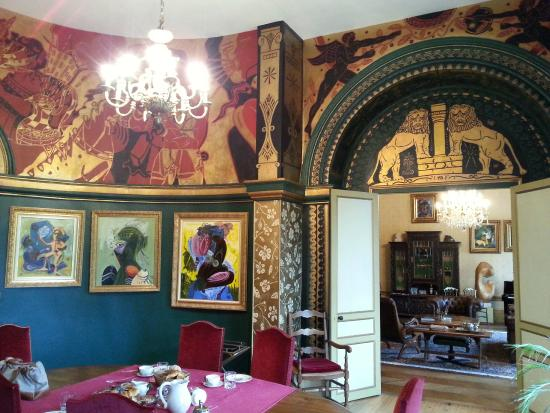 Ecouche, Frankrike: La salle à manger décorée par Balias