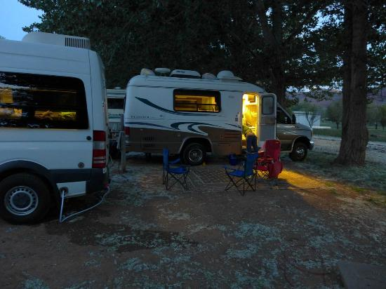 Slickrock Campground : sites 182 and 180 at dusk