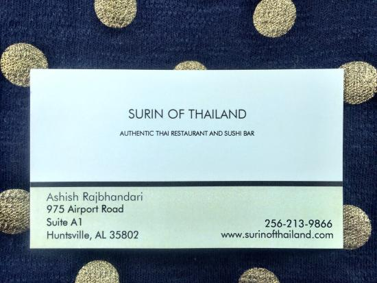 Surin of thailand business card picture of surin of thailand surin of thailand business card reheart Images