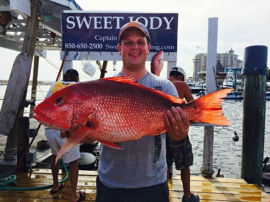 The largest of the three red snapper i caught picture for Sweet jody fishing