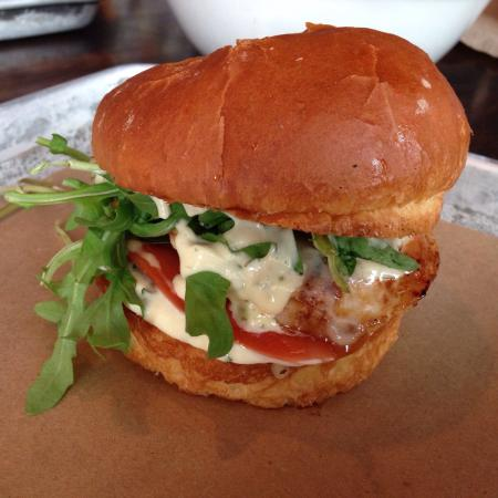Chicken Burger And Open Kitchen Picture Of Le Chic Shack Quebec