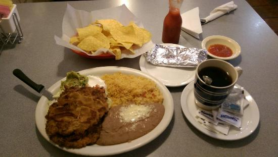 Cancun Mexican Restaurant I40: Milanesa plate is huge!